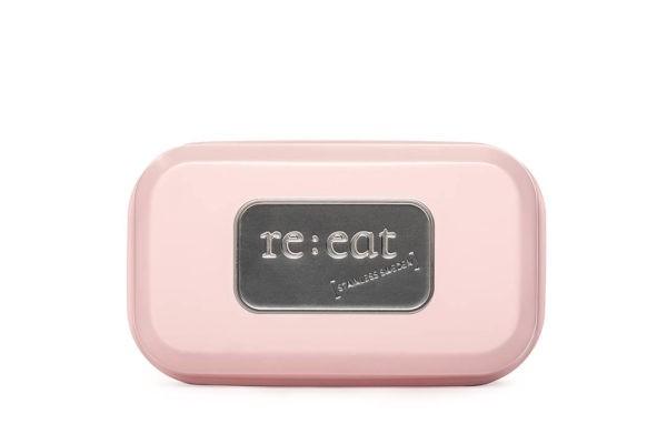Reeat matlådoa rostfri stål rosa 01